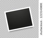 polaroid realistic photo frame... | Shutterstock .eps vector #1215143800