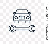car with wrench vector outline...   Shutterstock .eps vector #1215144910