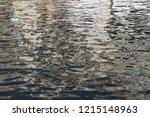 water surfuce of one of aveiro...   Shutterstock . vector #1215148963