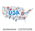 Map Of United States In Cartoo...