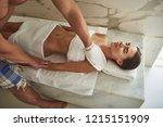 careful experienced hammam... | Shutterstock . vector #1215151909