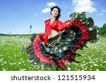 Beautiful Gypsy Woman Dancing...