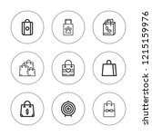 shopper icon set. collection of ... | Shutterstock .eps vector #1215159976