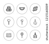 caramel icon set. collection of ...   Shutterstock .eps vector #1215160009