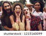 waist up portrait of young... | Shutterstock . vector #1215160099