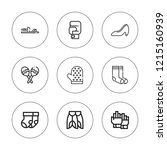 pair icon set. collection of 9... | Shutterstock .eps vector #1215160939