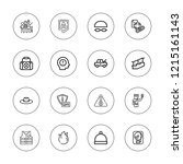 safety icon set. collection of... | Shutterstock .eps vector #1215161143