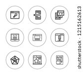 browser icon set. collection of ... | Shutterstock .eps vector #1215162613