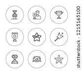 reward icon set. collection of...