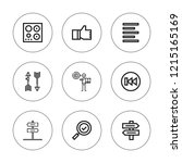 right icon set. collection of 9 ...   Shutterstock .eps vector #1215165169