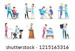 set of doctor and nurse... | Shutterstock .eps vector #1215165316