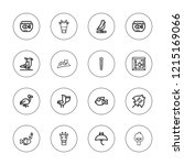 fauna icon set. collection of... | Shutterstock .eps vector #1215169066