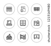 cabinet icon set. collection of ... | Shutterstock .eps vector #1215169480