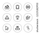 forward icon set. collection of ...   Shutterstock .eps vector #1215182953