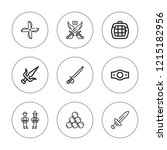 combat icon set. collection of... | Shutterstock .eps vector #1215182956