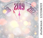 blurred new year 2019 card with ... | Shutterstock .eps vector #1215186523