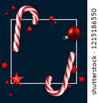 blue merry christmas and happy... | Shutterstock .eps vector #1215186550