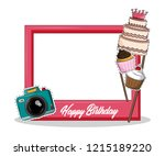 party frame prop | Shutterstock .eps vector #1215189220