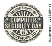 computer security day  november ... | Shutterstock .eps vector #1215189466