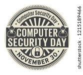 computer security day  november ... | Shutterstock .eps vector #1215189466