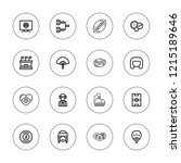 football icon set. collection... | Shutterstock .eps vector #1215189646