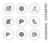 aim icon set. collection of 9... | Shutterstock .eps vector #1215189769
