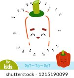 numbers game  education dot to... | Shutterstock .eps vector #1215190099