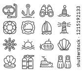 vector nautical  marine and sea ... | Shutterstock .eps vector #1215192133
