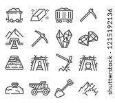 mining industry. vector outline ... | Shutterstock .eps vector #1215192136