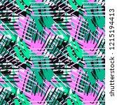 urban seamless funky geometric... | Shutterstock . vector #1215194413