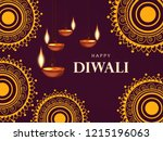 happy diwali wallpaper design... | Shutterstock .eps vector #1215196063