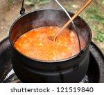 Stew Pot Outdoor Goulash In It