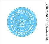 additives free. blue and white... | Shutterstock .eps vector #1215198826