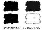 set of brush stroke and... | Shutterstock . vector #1215204709