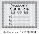 grey retro warranty certificate ... | Shutterstock .eps vector #1215208303