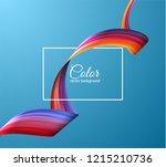 3d colorful paint watercolor... | Shutterstock .eps vector #1215210736
