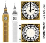 big ben in vector art | Shutterstock .eps vector #121521253