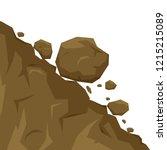 landslide isolated on white... | Shutterstock .eps vector #1215215089