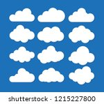 clouds icon   vector... | Shutterstock .eps vector #1215227800
