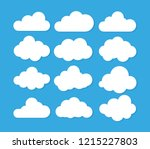 clouds icon   vector... | Shutterstock .eps vector #1215227803