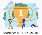trophy rating award winner...   Shutterstock .eps vector #1215229009