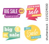flat colorful shaped banners ... | Shutterstock .eps vector #1215229030