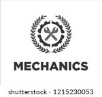 a nice logo for mechanics. the... | Shutterstock .eps vector #1215230053