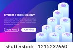 cyber technology concept with...   Shutterstock .eps vector #1215232660