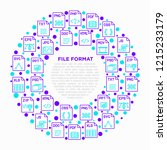file formats concept in circle... | Shutterstock .eps vector #1215233179