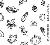 autumn theme  seamless pattern. ... | Shutterstock .eps vector #1215234760