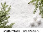 fir tree branches with...   Shutterstock . vector #1215235873