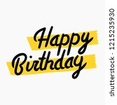 hand written and highlighted in ... | Shutterstock .eps vector #1215235930