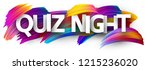 quiz night poster. colorful... | Shutterstock .eps vector #1215236020