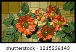 vector angular mosaic with... | Shutterstock .eps vector #1215236143